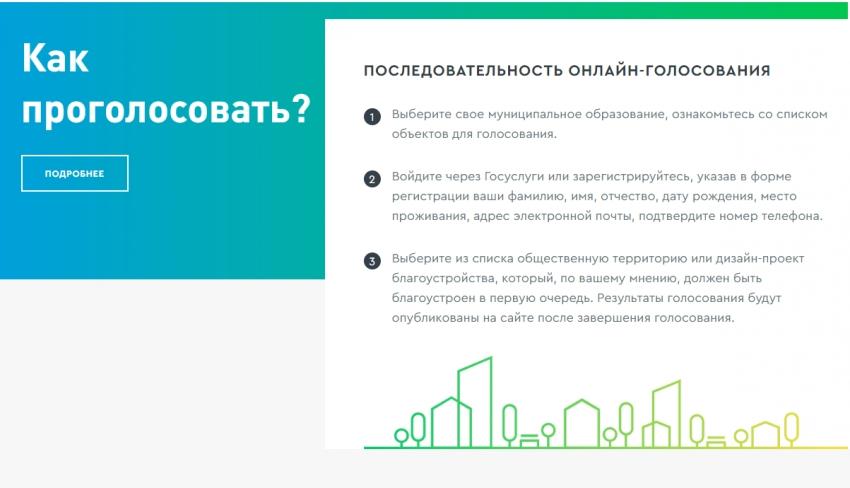 Прими участие в онлайн-голосовании по выбору объектов благоустройства на 2022 год!