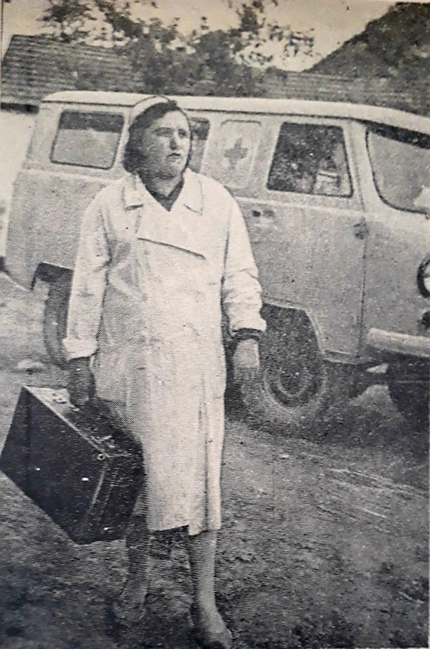 Фельдшер Табасаранской райбольницы Мария Рейслер (1965 г.)
