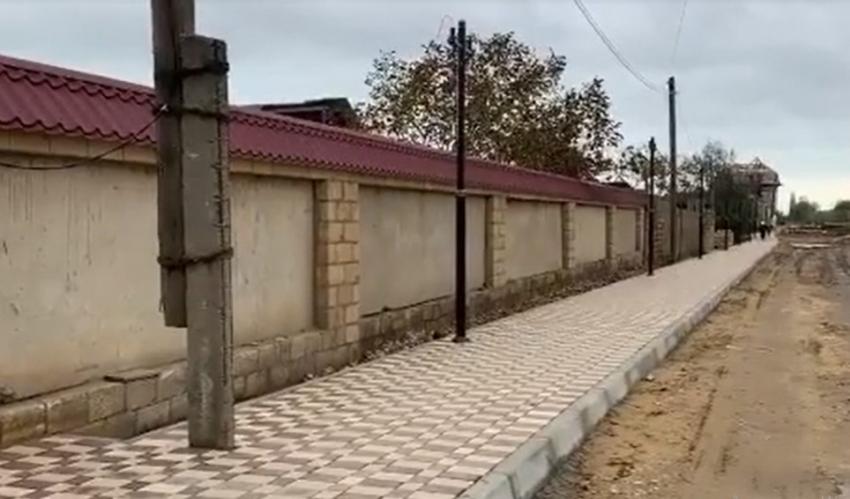 В одном из районов Даг. Огней уложили новый тротуар