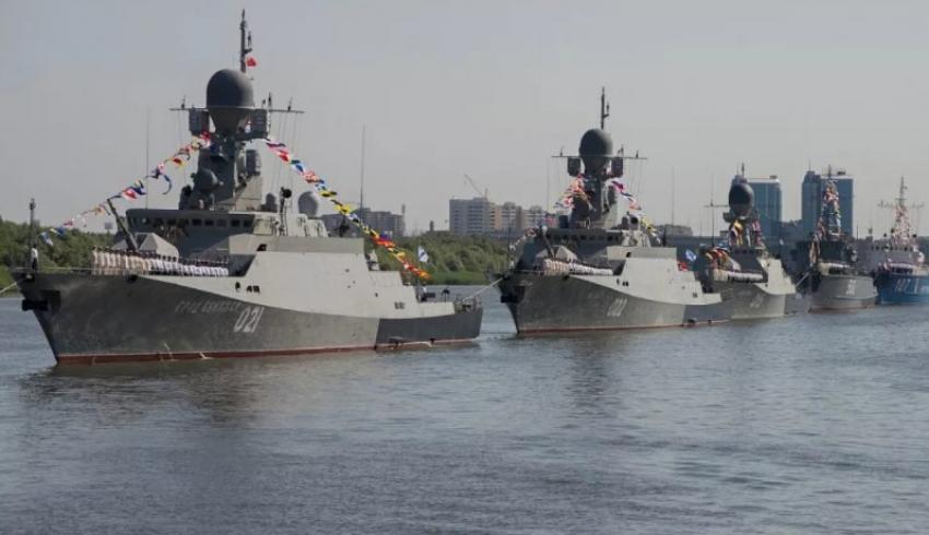 Каспийская флотилия. Из Астрахани в Каспийск