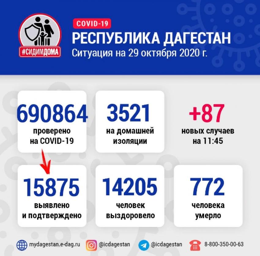 В Дагестане за сутки от коронавируса излечились 86 человек