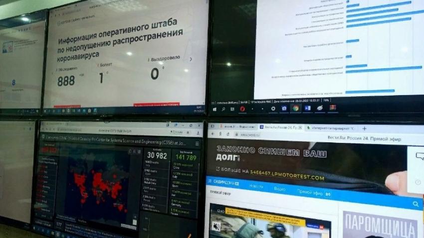 Артём Здунов посетил Ситуационный центр по борьбе с коронавирусом