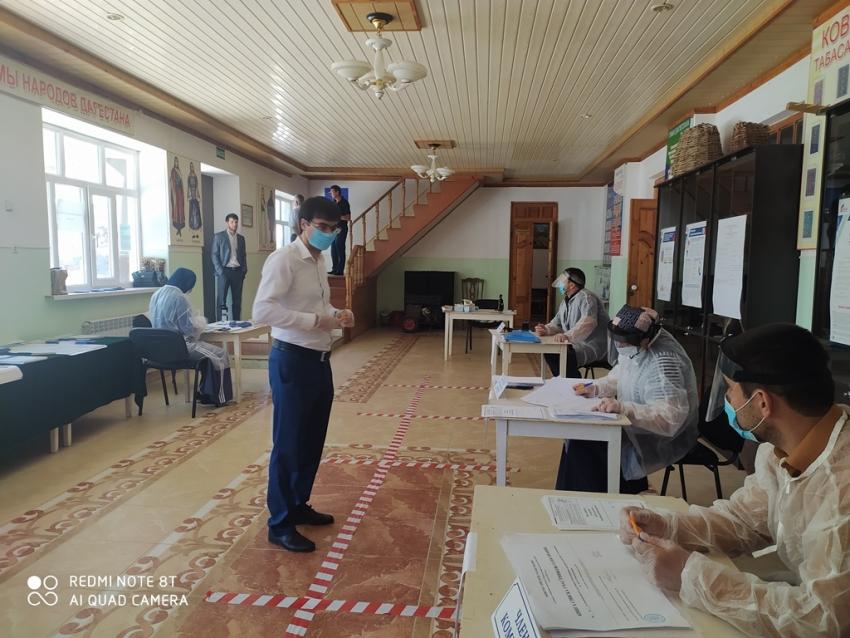 Молодёжь Табасаранского района проголосовала за поправки в Конституцию