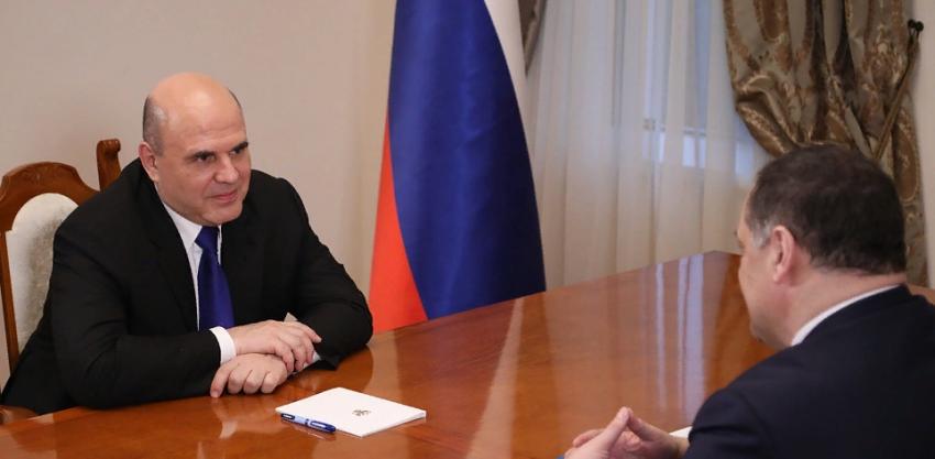 М.Мишустин и С.Меликов обсудили вопросы социально-экономического развития Дагестана