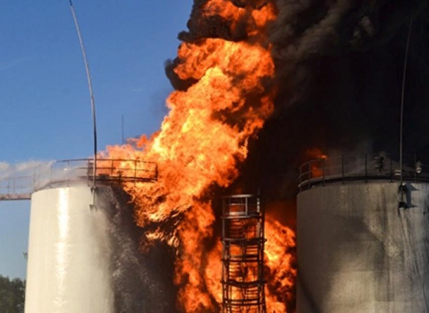 На нефтебазе Хасавюртовского района произошел пожар
