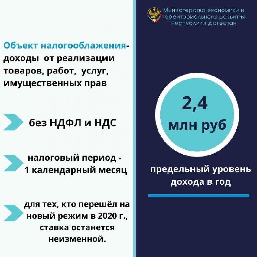В Дагестане заработал специальный налоговый режим для самозанятых
