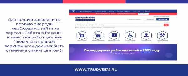 Подача заявления для участия в программе господдержки предпринимателей при трудоустройстве безработных