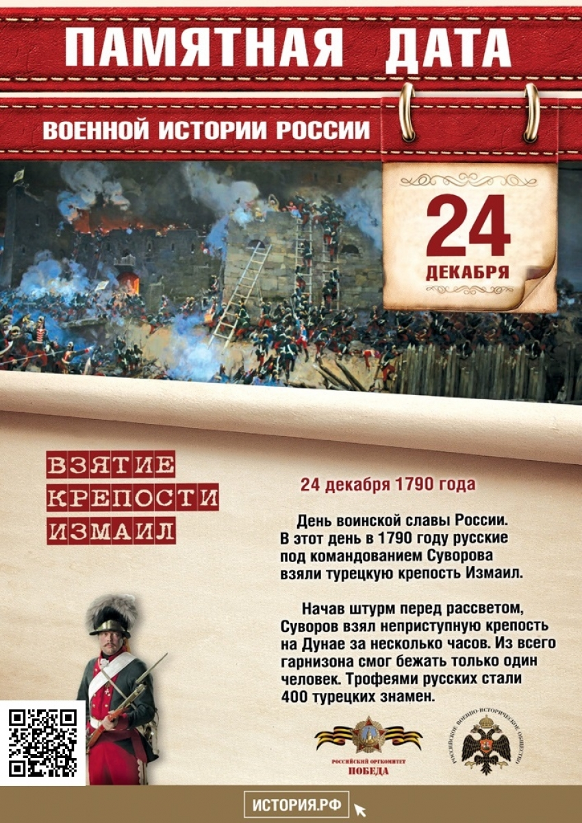 24 декабря - Памятная дата военной истории России