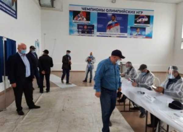 Курушцы проголосовали на выборах в Госдуму РФ и Народное Собрание РД