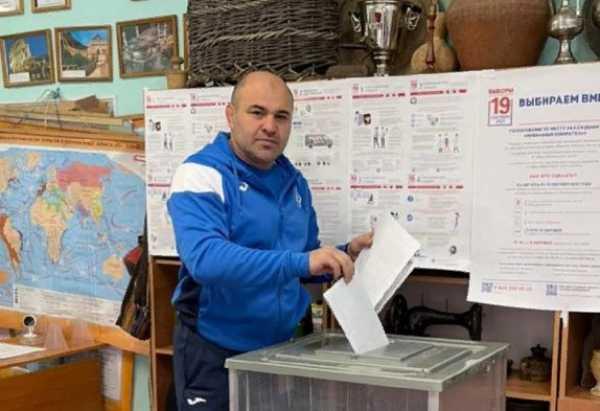 Минспорта РД Сажид Сажидов принял участие в голосовании