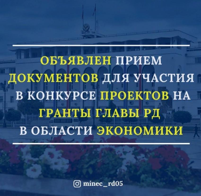 Стартовал прием заявок на конкурс грантов главы РД в области экономики