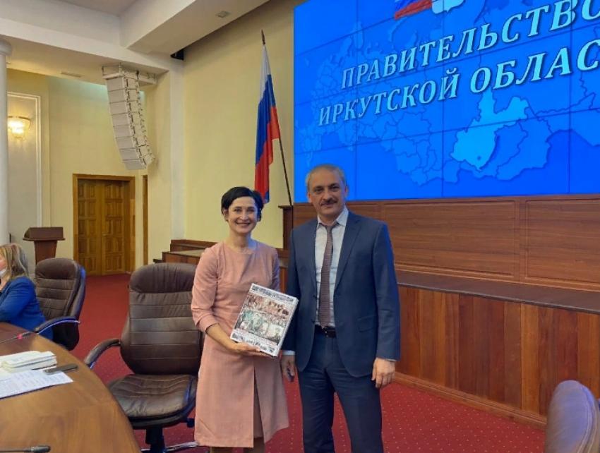 В правительстве Иркутской области прошла встреча с делегацией из Дагестана